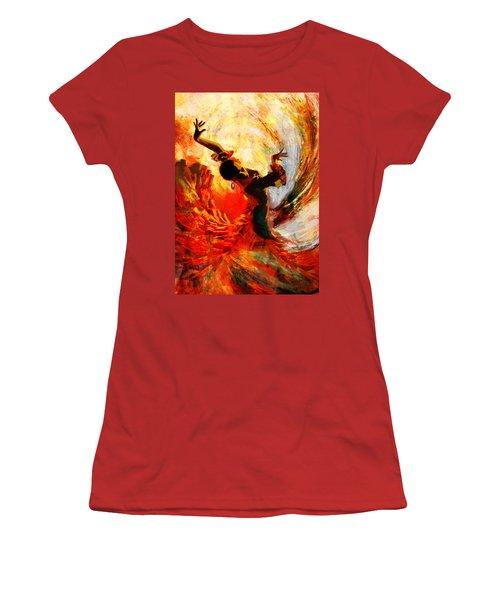 Flamenco Dancer 021 Women's T-Shirt (Athletic Fit)
