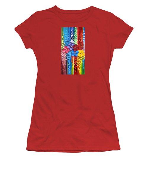 Flower Shower Women's T-Shirt (Junior Cut) by Katia Aho