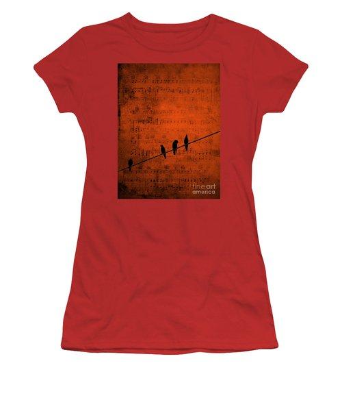 Follow The Music Women's T-Shirt (Junior Cut) by Andrea Kollo