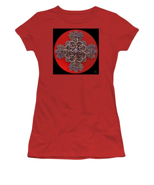 Fractal Cruciform Women's T-Shirt (Athletic Fit)