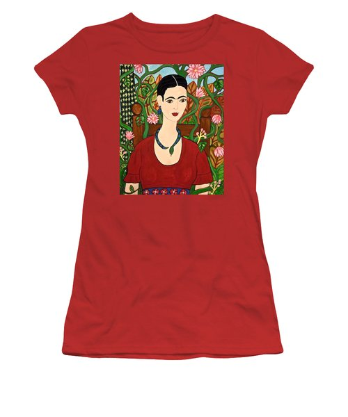 Frida With Vines Women's T-Shirt (Junior Cut) by Stephanie Moore