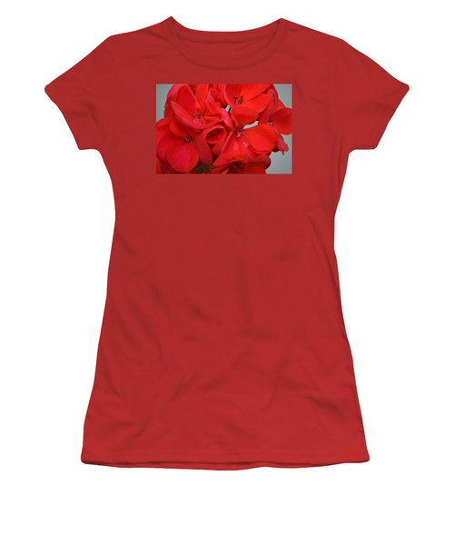 Geranium Red Women's T-Shirt (Athletic Fit)