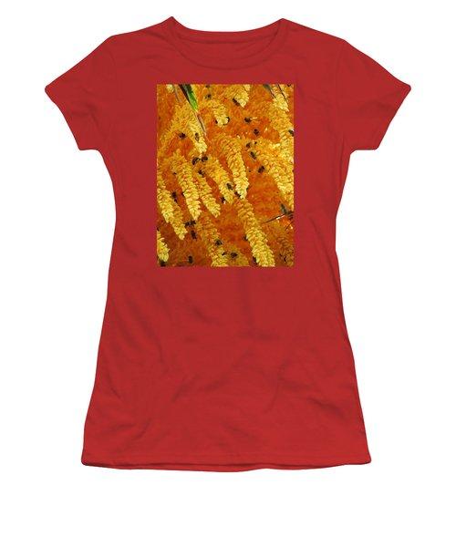 Golden  Buzz Women's T-Shirt (Junior Cut) by Linda Hollis