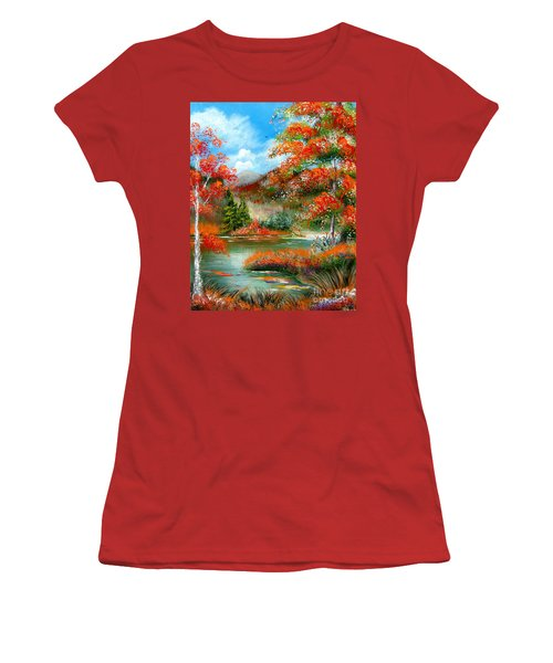 Happy Ever After Autumn  Women's T-Shirt (Junior Cut) by Patrice Torrillo