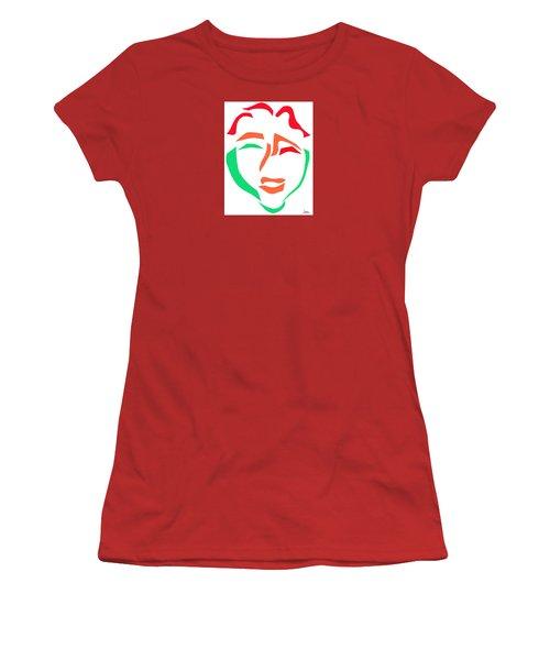 Happy Face Women's T-Shirt (Athletic Fit)