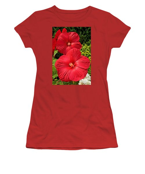 Women's T-Shirt (Athletic Fit) featuring the photograph Hardy Hibiscus by Sue Smith