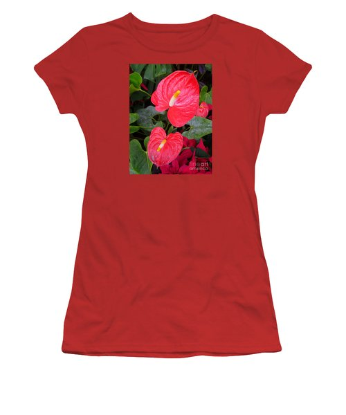 Heart To Heart Women's T-Shirt (Junior Cut) by Lingfai Leung