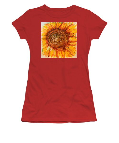 Hello Sunflower Women's T-Shirt (Athletic Fit)