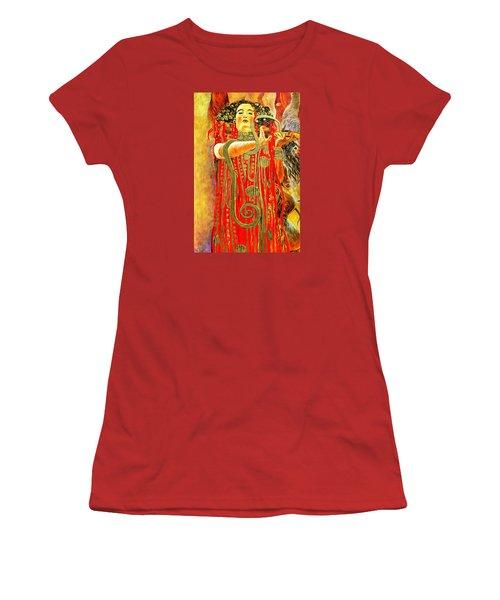 Higieja-according To Gustaw Klimt Women's T-Shirt (Junior Cut) by Henryk Gorecki