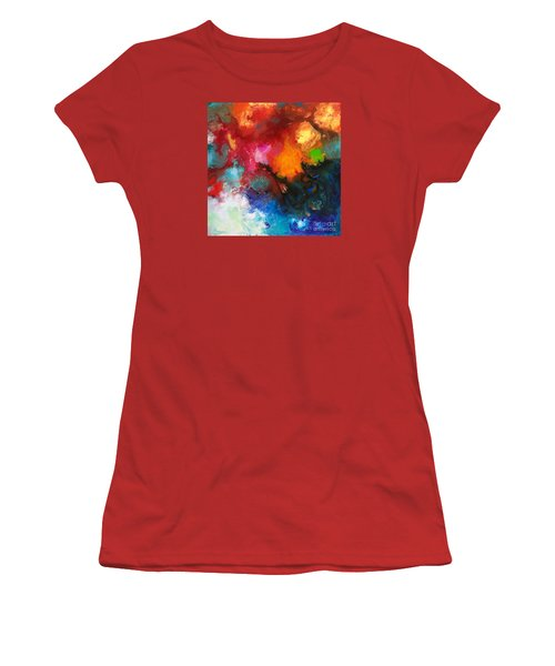 Holding The High Watch Canvas Three Women's T-Shirt (Junior Cut) by Sally Trace