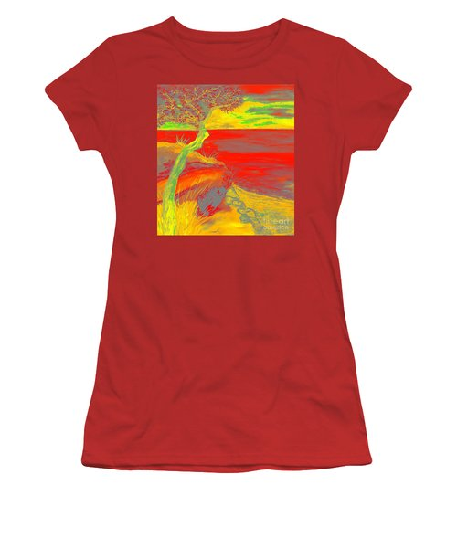 Horizon Women's T-Shirt (Junior Cut) by Loredana Messina
