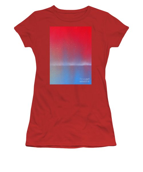 Women's T-Shirt (Junior Cut) featuring the painting In This Twilight by Roz Abellera Art