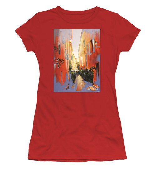 In Town Of Saint Tropez Women's T-Shirt (Athletic Fit)