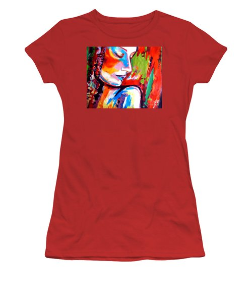 Women's T-Shirt (Junior Cut) featuring the painting Insight by Helena Wierzbicki