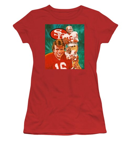 Joe Montana Women's T-Shirt (Athletic Fit)