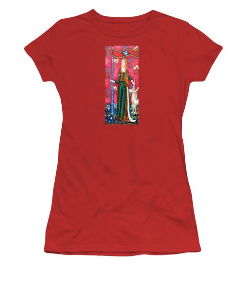 Lady And The Unicorn La Pointe Women's T-Shirt (Junior Cut) by Genevieve Esson