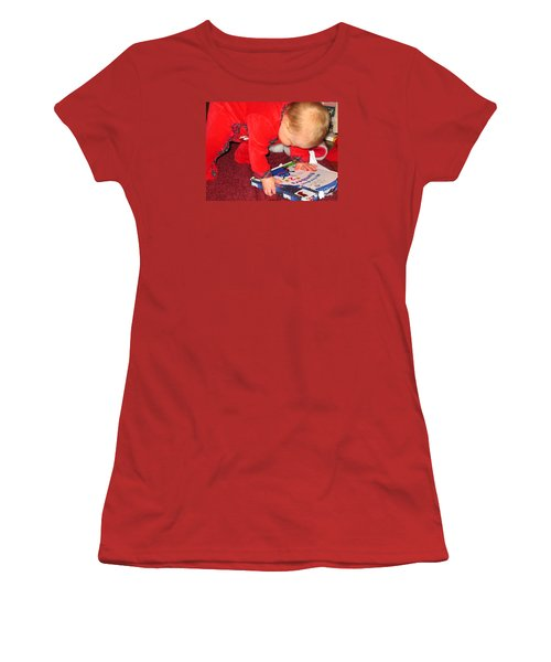Learning To Read Women's T-Shirt (Junior Cut) by Connie Fox