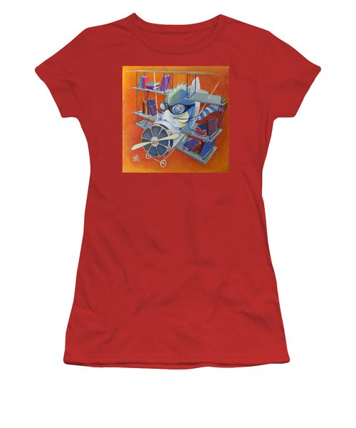 Librarian Pilot Women's T-Shirt (Junior Cut) by Marina Gnetetsky