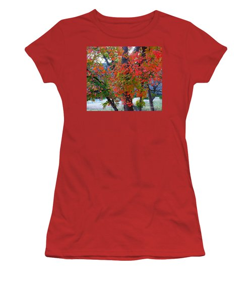 Lost Maples Fall Foliage Women's T-Shirt (Athletic Fit)