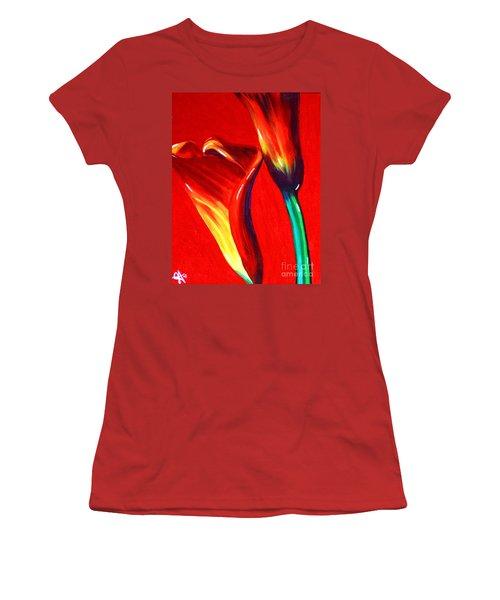 Love Lilies Women's T-Shirt (Junior Cut) by Jackie Carpenter