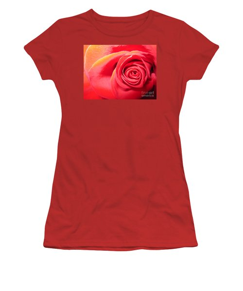 Luminous Red Rose 1 Women's T-Shirt (Athletic Fit)