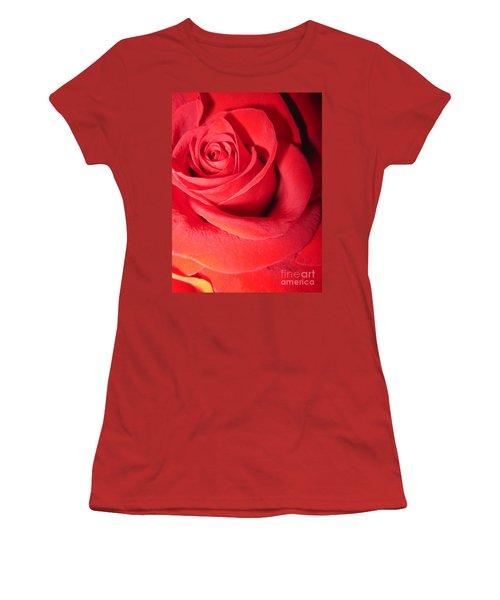 Luminous Red Rose 6 Women's T-Shirt (Athletic Fit)