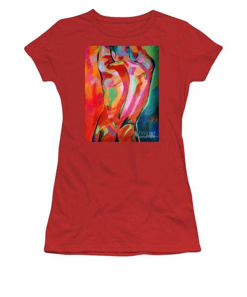 Male Figure Women's T-Shirt (Athletic Fit)