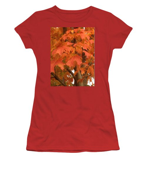 Maple Orange Women's T-Shirt (Athletic Fit)