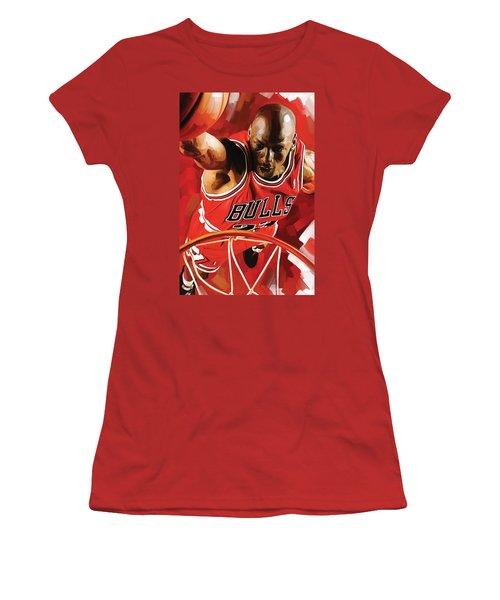 Michael Jordan Artwork 3 Women's T-Shirt (Athletic Fit)