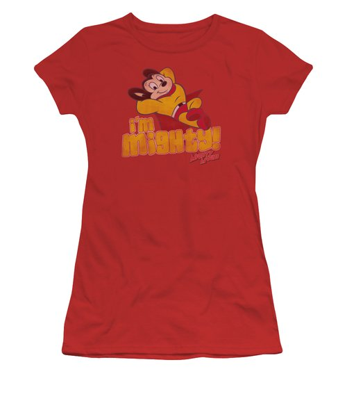 Mighty Mouse - I'm Mighty Women's T-Shirt (Junior Cut) by Brand A