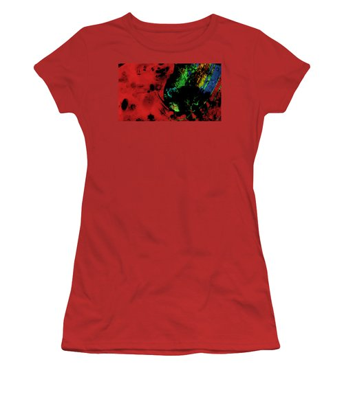 Women's T-Shirt (Junior Cut) featuring the mixed media Modern Squid by Ally  White