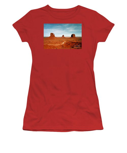 Women's T-Shirt (Junior Cut) featuring the photograph Monument Valley by The Art of Alice Terrill