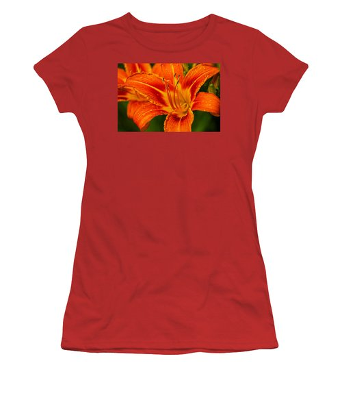 Women's T-Shirt (Junior Cut) featuring the photograph Morning Dew by Dave Files