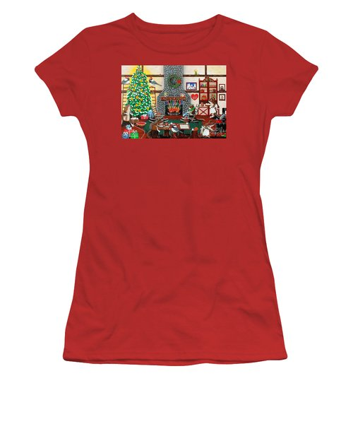 Ms. Elizabeth's Holiday Home Women's T-Shirt (Athletic Fit)