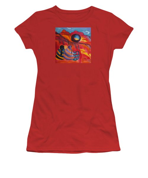 Native Women At Window Rock Square Women's T-Shirt (Athletic Fit)