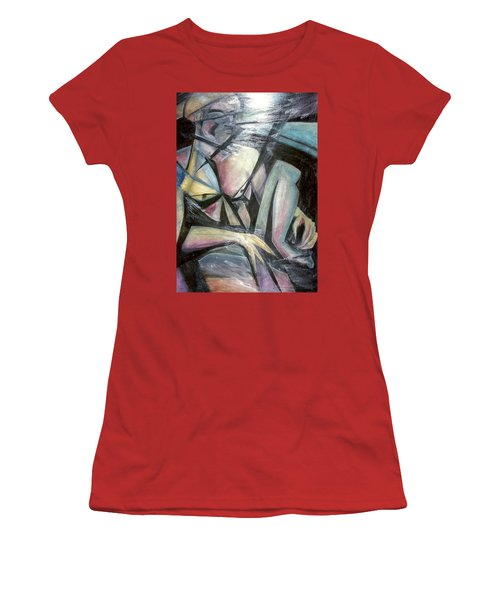 Nude Model In Studio Women's T-Shirt (Junior Cut) by Carrie Maurer