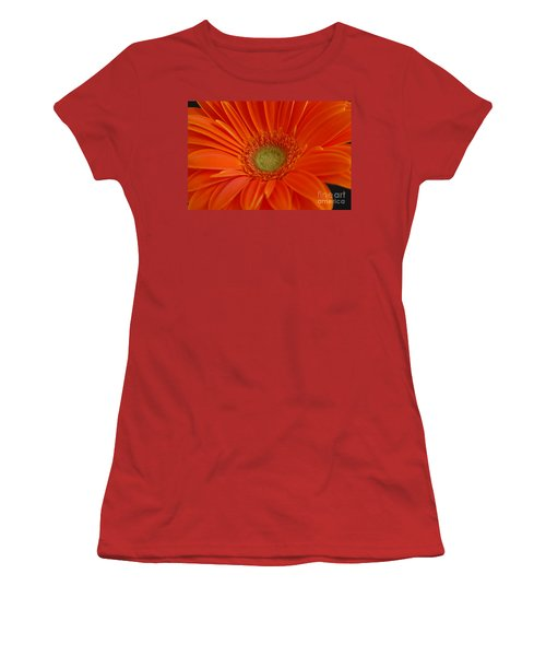Orange Gerber Daisy Women's T-Shirt (Athletic Fit)