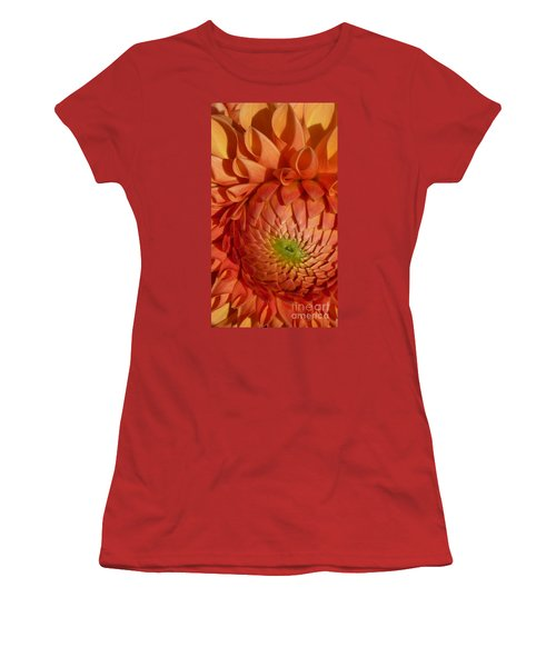 Orange Sherbet Delight Dahlia Women's T-Shirt (Junior Cut) by Susan Garren