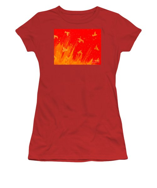Out Of The Fire Women's T-Shirt (Junior Cut) by Stefanie Forck