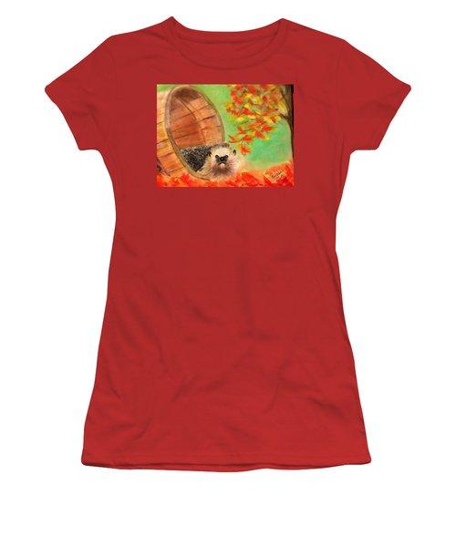 Peevish Porcupine Women's T-Shirt (Junior Cut) by Renee Michelle Wenker