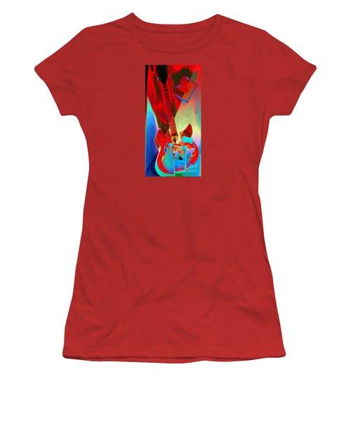 Pete's Guitar Women's T-Shirt (Athletic Fit)