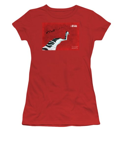 Piano Fun - S01at01 Women's T-Shirt (Athletic Fit)