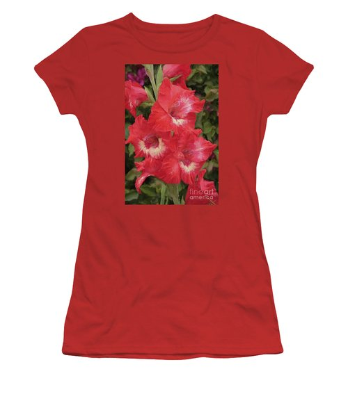Pink Trumpet Painting In Digital Oil Women's T-Shirt (Athletic Fit)
