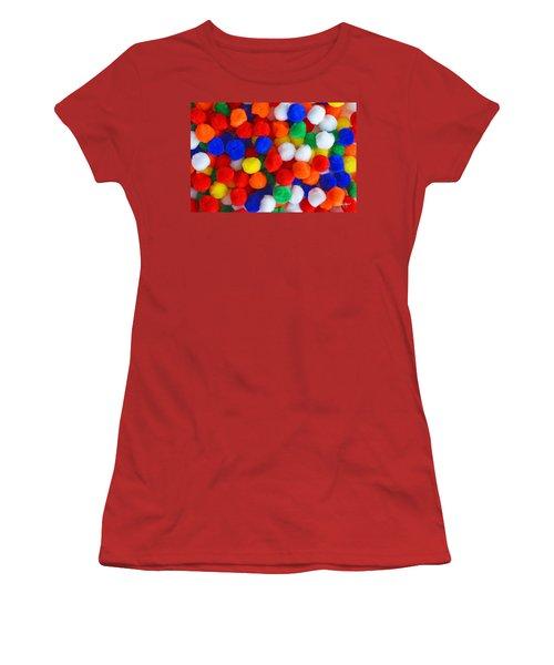 Pom Poms Women's T-Shirt (Athletic Fit)