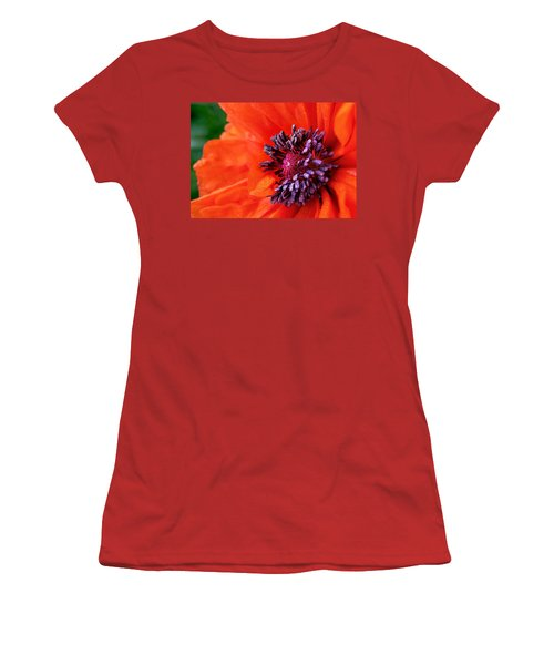 Poppy's Purple Passion Women's T-Shirt (Junior Cut) by Bill Pevlor