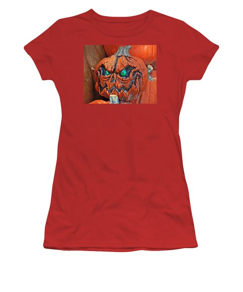 Pumpkin Face Women's T-Shirt (Athletic Fit)