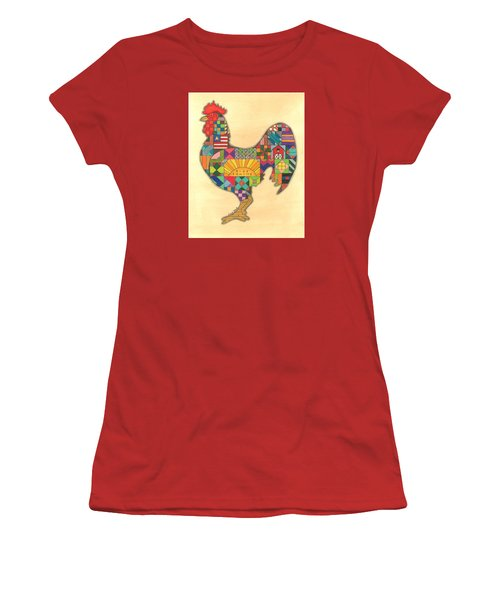 Quilted Rooster Women's T-Shirt (Athletic Fit)