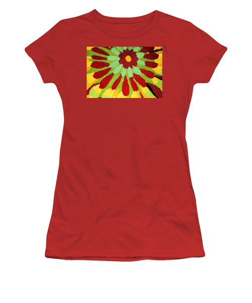 Women's T-Shirt (Junior Cut) featuring the photograph Red Flower Rug by Janette Boyd