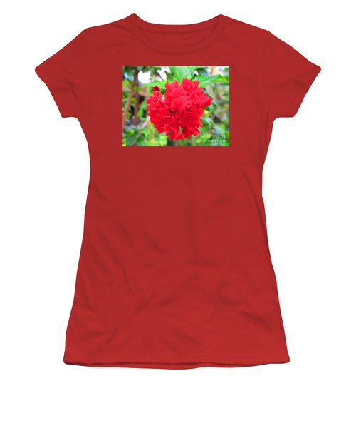 Women's T-Shirt (Junior Cut) featuring the photograph Red Flower by Sergey Lukashin