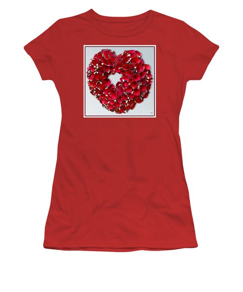 Red Heart Wreath Women's T-Shirt (Athletic Fit)